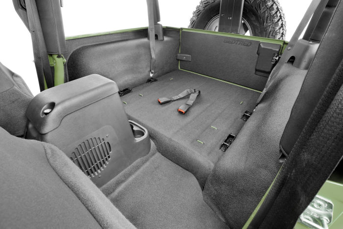 BedRug Jeep Kit INCLUDES TAILGATE BedTred BTTJ97R fits 97-06 TJ 97-06 REAR 4PC CARGO KIT